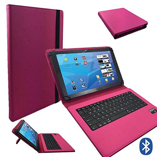 Hip Street Scanner (Deutsche Bluetooth Tastatur für Hip Street Phantom 2 Schutz Hülle Etui Case - 10.1 Zoll Pink Bluetooth Tastatur)