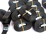 10x Spanngurt 5 Meter 250kg Zurrgurt Spangurte mit Klemmschloss Schnellspannung Farbe: schwarz , DIN/EN 12195-2 , iapyx®