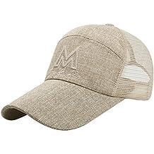 Gorros de deporte para hombre de moda LonTG, sombrero de malla casual de béisbol,