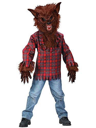 m braun - 128-140cm (Werwolf Kostüm Für Kinder)