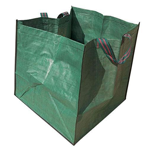 dewdropy 2 Stück Platz Hochleistungsgarten Müllsack Blau Gewebten Stoff Müllsack 33 Gallonen Pro Beutel-Extra Große Wiederverwendbare Hochleistungsgarten Taschen Rasen Pool Leaf Müllsack (Wiederverwendbare Rasen-taschen)
