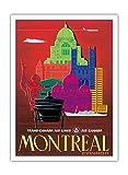 Montreal, Kanada - TCA (Trans-Canada Air Lines) - Air Canada - Vintage Retro Fluggesellschaft Reise Plakat Poster von Egmond c.1960s - Premium 290gsm Giclée Kunstdruck - 30.5cm x 41cm
