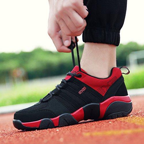 Sportschuhe, Gracosy Herren Damen Sneaker Turnschuhe Unisex Laufschuhe Straßenlaufschuhe Freizeitschuhe Hallenschuhe (Hersteller-Größentabelle im Bild Beachten) Rot-Schwarz