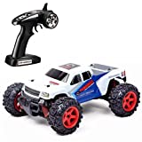 Wokee SUBOTECH,RC Auto Buggy Monstertruck 25MPH 40 km / h High Speed 1:24 Skala Off Road,Toys ferngesteuertes Buggy Racing RC Auto (Weiß)
