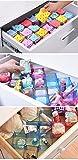 Xectes 6-Piece Honeycomb Drawer Clapboard Closet Divider Cabinet Cellular Underwear Organizer Cosmetic Plastic Storage Box