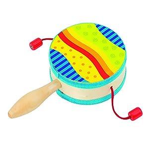 Goki 61916 - Juguetes Musicales (Instrumento Musical de Juguete, Tambor, 3 año(s),, plástico, Madera, CE)