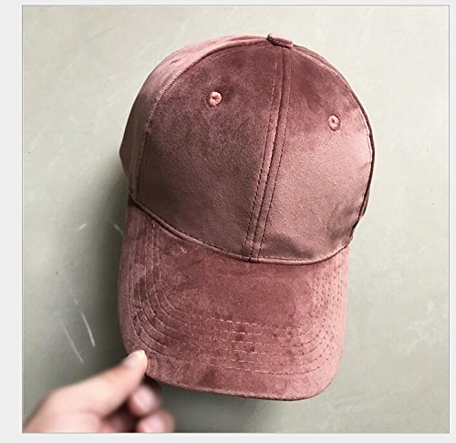 danapp Frau Samt Pure Color Light Baseball Cap Tide männlich Warm Hip Hop Cap rosa rose 1