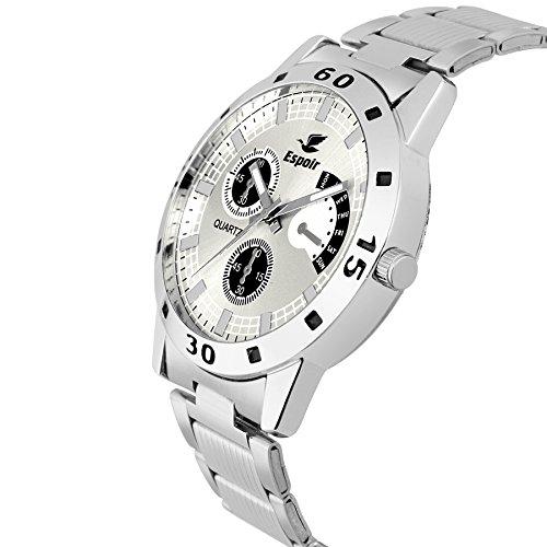 Espoir Analogue White Dial Men's Watch -ES109