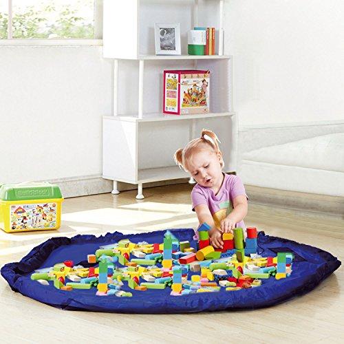 Preisvergleich Produktbild Taylor & Braun® Spielzeug Aufbewahrungstasche, groß Gartensack Kinder Teppich tragbar Kids Spielzeug Organizer Storage Kordelzug Tasche Play Matte 150cm
