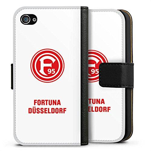 Apple iPhone 7 Hülle Premium Case Cover Fortuna Düsseldorf Fanartikel Bundesliga Sideflip Tasche schwarz