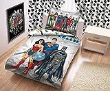 Justice league liga de la Justicia ropa de cama Ropa De Cama De Niño 140x200 cm (Öko-Tex Estándar 100) Superman Batman Wonder Woman