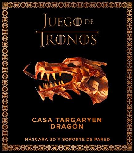 Juego de Tronos. Casa targaryen: dragón: Máscar 3D y soporte pared (Series y Películas) por Varios autores