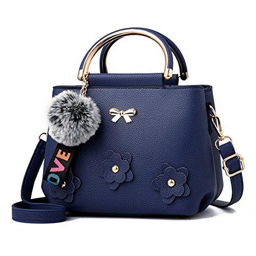Frauen Handtasche Ledertasche Großhandel Handtaschen Nachricht Tasche Blue 23x17x12cm
