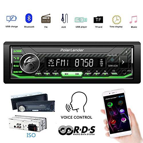 Auto Radio, Autoradio Bluetooth, Audio Multimedia Auto Estéreo Control de Voz Panel...