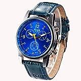 gloaming Luxus-Weinlese-Krokodil-Kunstleder-Multi Vorwahlknopf-Männer analoge Uhr-Armbanduhren