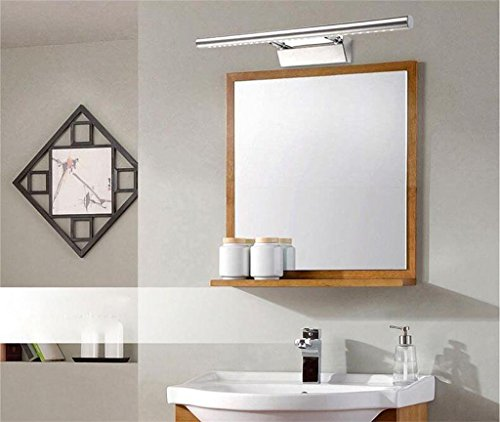 MEI-lamp Espejo de baño espejo con luz de la lámpara llevó ahorro de hace mucho tiempo antes de que el espejo del baño armario con espejo luz de humedad de acero inoxidable creativa Continental energía
