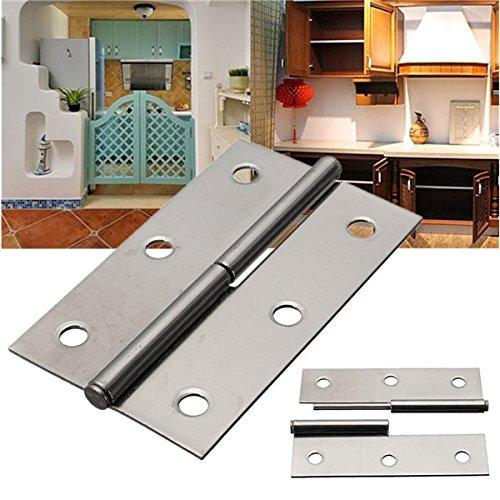TuToy H Typ Edelstahl Möbel Schrank Hintern Box Tür Scharnier Möbel-Fitting - Links (Interieur-tür-scharniere)