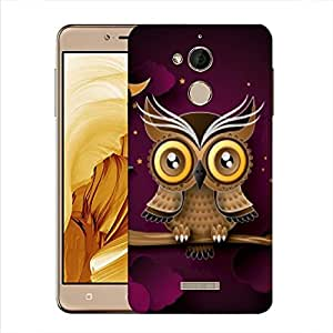 Snoogg Abstract Owl Designer Protective Phone Back Case Cover For Coolpad Note 5