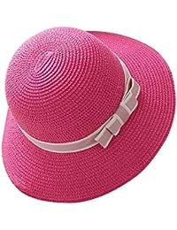 Gladiolus Mujer/Chicas Sombrero de Playa/Sombrero para el Sol/Sombrero de Paja/Verano Sombrero Pamela niña Rose