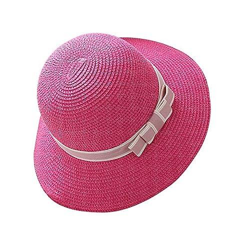 Femme / Fille Chapeau Paille Capeline Panamas Chapeau de Soleil Chapeau de Plage Été Élégant adulte