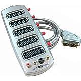 Cablematic - Sélecteur 5 Péritel/SCART + CVBS/S-VHS (1 mâle et 5 femelles)