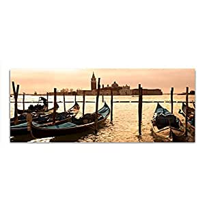 Vetro foto vetro barche Mare quadro 125 x 50 cm Float