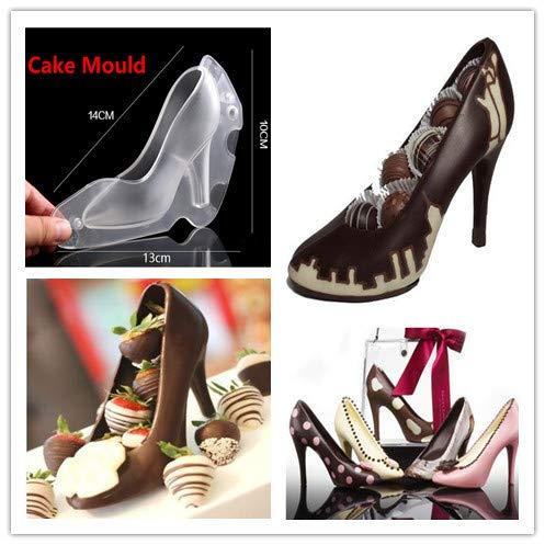 YA-Uzeun 3D High Heels Schuh Schokoladenform Süßigkeiten Kuchen Gelee Form Hochzeit Dekoration DIY 6 1/2-zoll-high-heels