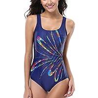 Alove-Costume intero da donna Cielo stellato stampa swimwear Racerback-Costume da nuoto, da ragazza