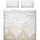 Versace 19.69rosa Funda de edredón y 2funda de almohada para cama de matrimonio 150cm, 100% algodón. vc-0019