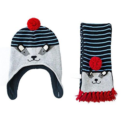 Uomini Ragazzi Moda Autunno Inverno Twin Set Cappello Sciarpa Bambino Bambini Cappello Cappello A Maglia Berretto L