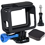 SIOTI Frame Mount Protective Housing With Lens Cap Cover And Aluminum Alloy Screw For GoPro Hero 6/5 Cameras