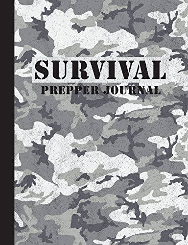 Survival Prepper Journal: Blank Lined Composition Journal Notebook 9.75x7.5in 150pages - For Emergency Survival Preppers - Urban Camo Design 7.5 Camo