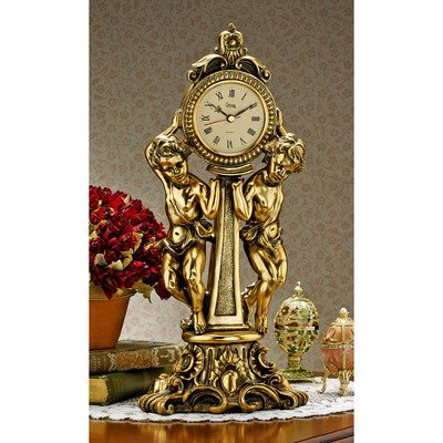 Design Toscano Amboise Twin Cherubs Mantle Clock