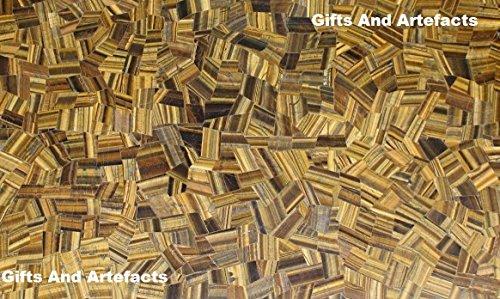 91,4x 61cm Rechteck Tiger Eye zufällige Marmor Mosaik-Kunst Kaffee Tisch Top