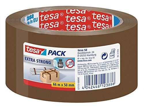 Cinta adhesiva de embalaje tesapack de PVC, color marrón