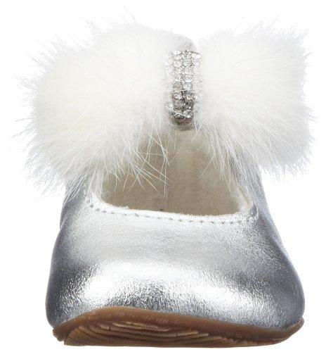 Living Kitzbühel Baby Ballerina Samtschleife 2200 Mädchen Babyschuhe Silber (silber 980)