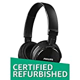 (Certified Refurbished) Philips SHB5500BK/00 Wireless Bluetooth Headphones (Black)