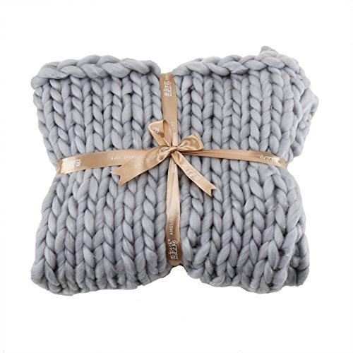 Qlan Fait Main Chunky Tricot Épais Fil Couverture Canapé Yoga Mat Tapis Grand Tapis