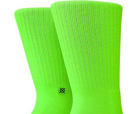 Florescent Green Large Stance Icon Anthem Socks