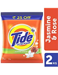 Tide Plus Detergent Washing Powder with Extra Power Jasmine and Rose Pack - 2 kg (Rupees 25 off)
