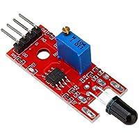 ROUHO Modulo Sensore Fiamma 026 Sensore Ir per Rilevazione Temperatura per Arduino