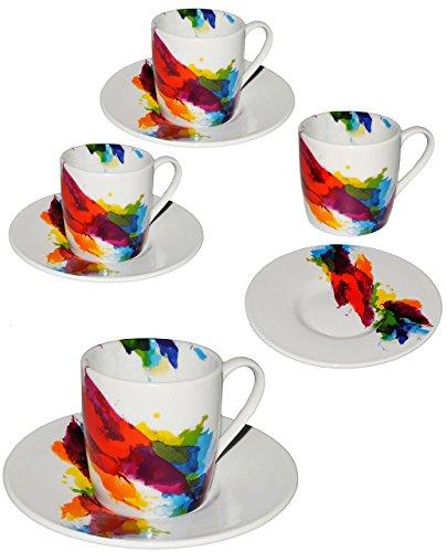 alles-meine.de GmbH 2 Set´s _ Espresso - Henkeltassen -  on Colour Flow / Bunte Design Farbe  - ..