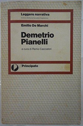 J 6503 LIBRO DEMETRIO PANELLI DI EMILIO DE MARCHI A CURA DI REMO CACCIATORI 1A EDIZIONE 1985