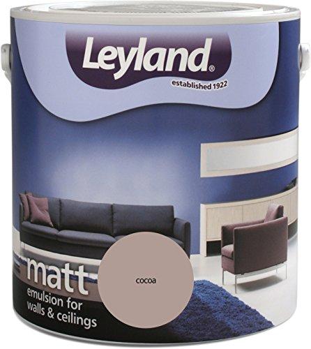 Leyland 303589 Matte Dispersionsfarbe, Cocoa, 2,5 l