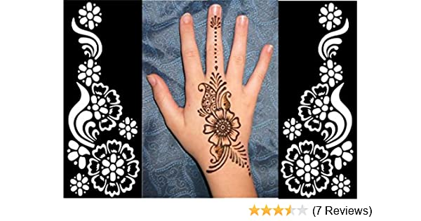 Mehndi Henna Kit Review : New pop henna stickers tattoo body art mehndi stencils template