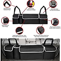 Coomir 2-in-1 Rücksitz für Kofferraum, platzsparend, Aufbewahrungstasche für Koffer mit hoher Kapazität für jedes Auto SUV