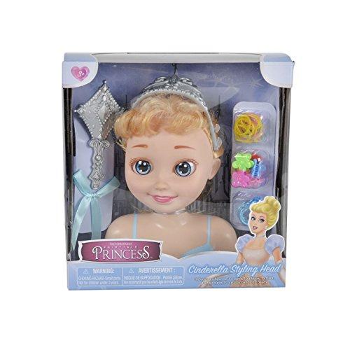 chen Prinzessin Cinderella Styling Kopf und Zubehör - Mädchen Spielzeug (Disney Cinderella Kind Tiara)