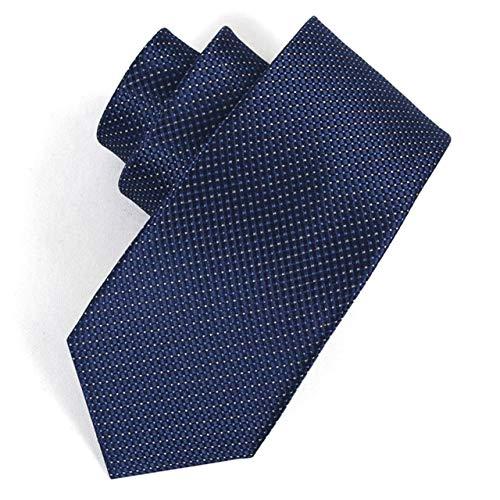 BAIJJ 8cm dunkelblaue Karomuster Plaid klassisches Design 100% Seide Männer Krawatte Allgleiches Party Casual Business Bankett Hochzeit Bräutigam in Geschenkbox (Plaid-karomuster)