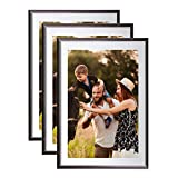 Lot de 3 Cadres Photo Galeria A4 (Gris Anthracite)