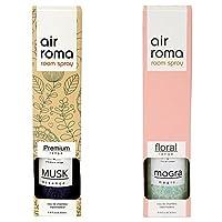 AirRoma Combo of Musk Fragrance Air Freshener Spray 200 ml & Mogra Magic Fragrance Air Freshener Spray 200 ml